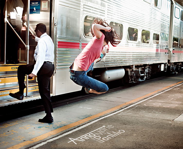 Kira drop kicks the bullet train