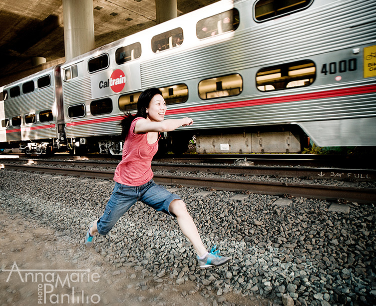 Kira races against Caltrain
